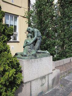 Jäähyväiset by Harald Sörensen-Ringi (1872–1912) - Villa Ensin portinpielessä, Merikatu 23, Eira.