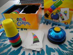 Spel: speed cups. Zet de 5 bekers zo snel mogelijk in de juiste volgorde *liestr*