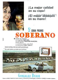 "Anuncio del 5º Gran Premio ""Soberano"" de González Byass. 1961. / González Byass advertisement for the Fifth ""Soberano"" Grand Prize. 1961."