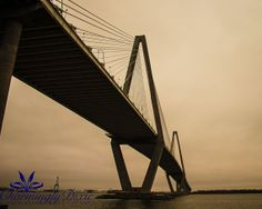 Ravenel Bridge Charleston SC  signed matted by CharminglyDixie, $30.00