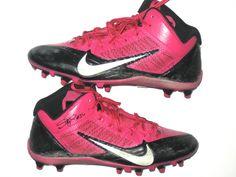 1282f315ba8 Darrel Young Washington Redskins Game Worn & Signed Breast Cancer Awareness  Pink & Black Nike Cleats