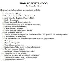 How to write good. (: