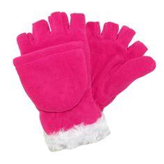 Grand Sierra Girls' 4-16 Fleece with Faux Fur Convertible Mitten to Glove