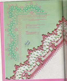 Família e Arte: barrados em croche Crochet Blocks, Crochet Borders, Crochet Squares, Crochet Doilies, Crochet Home, Crochet Trim, Irish Crochet, Knit Crochet, Doily Patterns