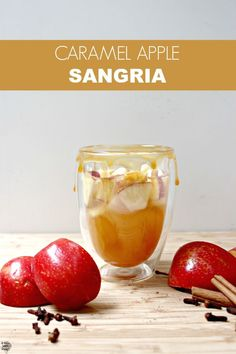Caramel Apple Sangria recipe. So easy and perfect for Fall! Find the easy recipe on dreambookdesign.com