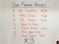 ...how are ya?  Another workout from the Garage. Enjoy!