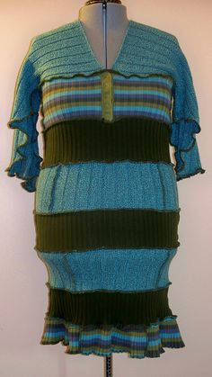 upcycled sweater dress!