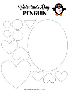 Check out this post for a free printable template to make your own Valentine& Day Penguin! Simple and easy DIY Penguin Valentine& Day craft for toddlers, big kids and adults to make. Great for classroom Valentine& Day art projects. Easy Toddler Crafts, Valentine's Day Crafts For Kids, Valentine Crafts For Kids, Mothers Day Crafts, Projects For Kids, Art Projects, Holiday Crafts, Decoration Creche, Arts And Crafts