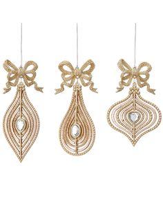 Set of Twelve Drop Ornaments