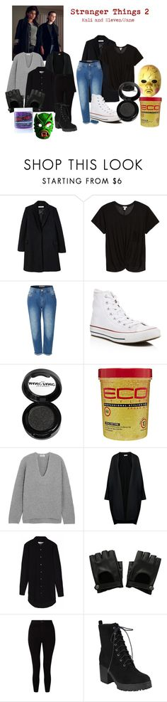 """Stranger Things 2- Kali and Jane/Eleven"" by paytonjenkins ❤ liked on Polyvore featuring MANGO, Hinge, LE3NO, Converse, Manic Panic NYC, Acne Studios, Jil Sander, Circle Park, Hot Topic and Miss Selfridge"