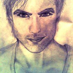Drawing of Ian somerhalder.