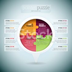 Pointer Puzzle Infographic royalty-free stock vector art