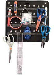 Tote-Ally Cool! Large Tools Panel- Black by All My Memories. $9.99. A great way to store all of your tools without having to find hiding places for tool boxes or shelve. Portable hanging organizer features 26 elastic pen and tool loops, 2 grommeted holes for hanging, and 6 hooks for hanging scissors, rulers, etc. from any of the 32 grommets.