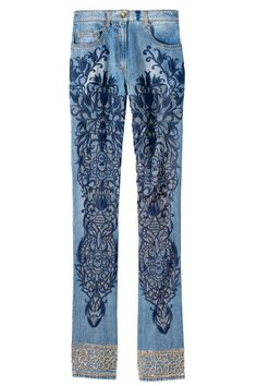 Embroidered jeans, Just Cavalli