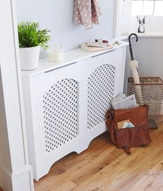 Cambridge Small White Painted Radiator Cover Radiator Cover