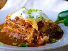 Yummy Mexican alternative lasagna!