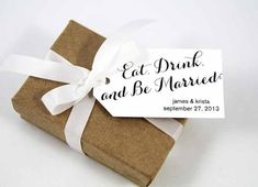 Eat Drink and Be Married Wedding Favor Tags  by TaggedWithLoveShop, $16.25