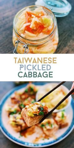 Crunchy, refreshing, healthy, and super easy to make at home, I always have Taiwanese Pickled Cabbage in the fridge at all times as it is the perfect side dish for every meal. Asian Noodle Recipes, Healthy Asian Recipes, Asian Chicken Recipes, Vegetarian Recipes, Authentic Chinese Recipes, Easy Chinese Recipes, Asian Side Dishes, Healthy Side Dishes, Asian Cooking