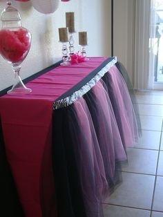 Pink and Black Zebra Table Tutu Skirt by BaileyHadaParty on Etsy Zebra Print Party, Pink Zebra Party, Baby Zebra, Cumple Monster High, Monster High Birthday, Monster High Party, Zebra Birthday, Girl Birthday, Birthday Ideas