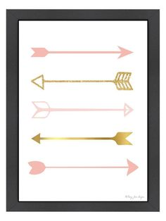 Shop for unique nursery art like the Pink and Gold Arrows Art Print for Nursery Decor Wrapped Canvas Print by pennyjanedesigns on BoomBoomPrints today! Customize colors, style and design to make the artwork in your baby's room their own! Teenage Girl Room Decor, Teen Girl Bedrooms, Little Girl Rooms, Gold Nursery, Gold Bedroom, Nursery Artwork, Nursery Decor, Baby Decor, Nursery Room