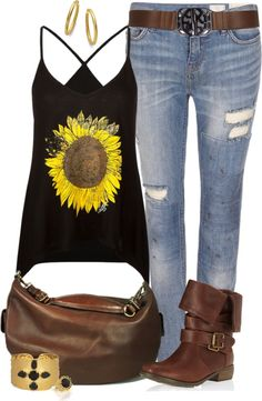 So super cute, but i hate mixing brown and black Cute Summer Outfits, Outfits For Teens, Pretty Outfits, Cool Outfits, Fashion Outfits, Womens Fashion, Denim Outfits, Pretty Clothes, Spring Outfits