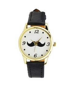 Black Numbered Stache Watch  #ohnineone