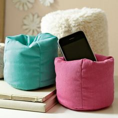 Beanbag Cell Phone Holder, Pool Twill ($15) ❤ liked on Polyvore featuring room, accessories, bedroom and pbteen