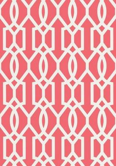 Downing Gate #wallpaper and coordinating #fabric in Pink from the Resort Collection by #Thibaut
