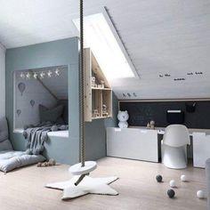 Children's room under the roof. - Children's room design - Children's room under the roof. – Children's room design -