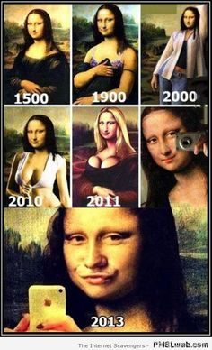 Funny evolution of Mona Lisa Funny Quotes, Funny Memes, Jokes, Funny Gifs, Mona Lisa, Funny Captions, Disney Memes, Videos Funny, Funny Posts