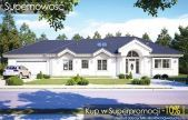 Willa parkowa C Mediterranean House Plans, Hamptons House, 3 Bedroom House, House Front, Modern House Design, Home Fashion, Bungalow, Villa, New Homes