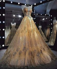 Gold long sleeves wedding dresses ball gowns lace embroidery lace more information junglespirit Image collections