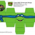 Leonardo Caixa Box Quadrada Tartaruga Ninjas Mais