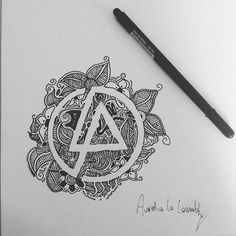 I love the artistry of this logo drawing! lp #LinkinPark #Art