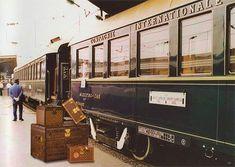 The Orient Express and Louis Vuitton luggage By Train, Train Tracks, Train Rides, Train Trip, Vintage Luggage, Vintage Travel, Vintage Suitcases, Simplon Orient Express, Louis Vuitton Luggage