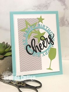 A quick and easy card for the new Freshly Made Sketches challenge ! This was my first time to use MFT's Happy Birthday Circle Die-Nami. Belated Birthday Card, Birthday Diy, Happy Birthday, Fusion Card, Birthday Frames, Mft Stamps, Handmade Birthday Cards, Greeting Cards, Men's Cards