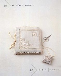 White Thread Embroidery by Ayako Otsuka