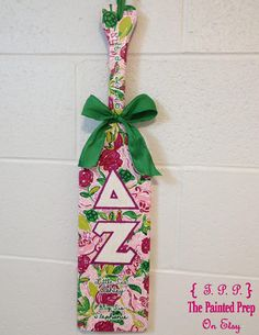 Panhel PADDLE perfection! [The Painted Prep Lilly Pulitzer Sorority Paddles!]