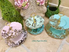 Tiered Cake Stands, Tiered Cakes, Rabbit Cake, Hdr, My Etsy Shop, Menu, Tea Time, Menu Board Design, Cupcake Stands