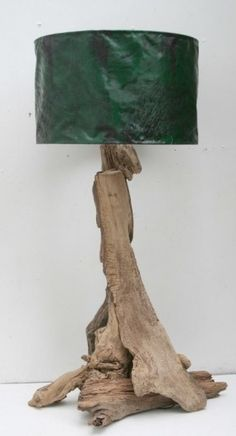 Wooden lamp stand driftwood - Google Search