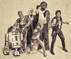 Star Wars: Heroes by Paul Shipper
