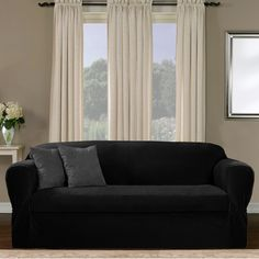 Stretch Morgan 1 Piece Sofa Furniture Cover Where Can I Dump My Old Loveseat Chocolate Brown Products Pinterest Covers Stretches And