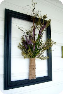Twine wrapped TP roll Vase {tutorial}.