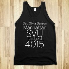 Olivia's Badge number - SVU - Skreened T-shirts, Organic Shirts, Hoodies, Kids Tees, Baby One-Pieces and Tote Bags Custom T-Shirts, Organic Shirts, Hoodies, Novelty Gifts, Kids Apparel, Baby One-Pieces | Skreened - Ethical Custom Apparel
