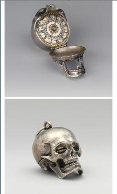 Skull watch pendant