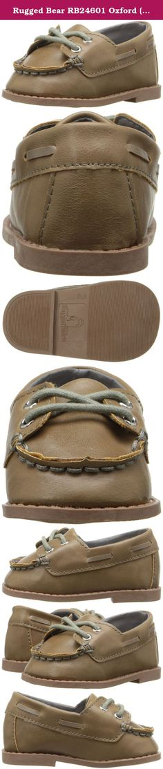 Rugged Bear RB24601 Oxford (Infant/Toddler), Taupe, 3 M US Infant. Boys infant shoes with laces.