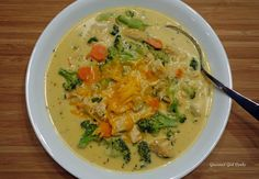 Gourmet Girl Cooks: Chicken Broccoli Cheddar Chowder