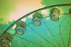 Country Fair Amusements ~ Ferris Wheel ~ Original Colour Photography by Suzanne MacCrone Rogers ~ via Italian Girl in Georgia
