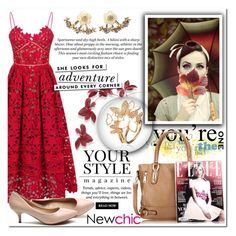 """""""NewChic"""" by dreamer55s ❤ liked on Polyvore featuring Pussycat, H&M and Kate Spade"""