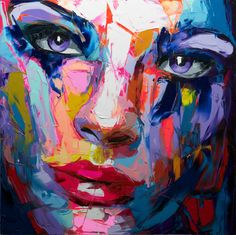 Palette knife painting portrait Palette knife Face Oil painting Impasto figure on canvas Hand painted Francoise Nielly Top Paintings, Cheap Paintings, Abstract Portrait, Abstract Wall Art, Painting Abstract, Oil Painting On Canvas, Artist Painting, Wall Art Canada, Art Mur